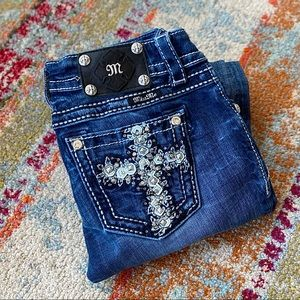 Miss Me Embellished Rhinestone Jeans